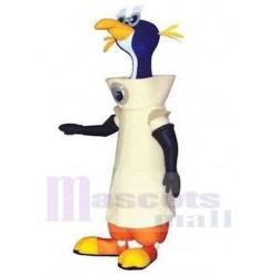 Astronaut Penguin Mascot Costume in White Space Suit Animal