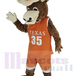 Texas Longhorns Bull Mascot Costume in Orange Jersey Animal