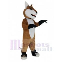 Smiling Fox Mascot Costume Animal