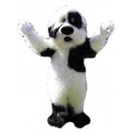 Black and White Bichon Dog Fursuit Mascot Costume