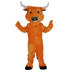 Robust Orange Bull Mascot Costume Animal