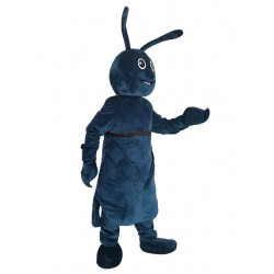 Dark Blue Bug Mascot Costume