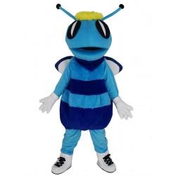Blue Hornet Bee Mascot Costume Animal