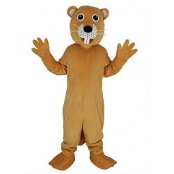 Orange Beaver Mascot Costume Animal