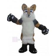 Furry Tricolor Colors Fox Dog Mascot Costume Animal