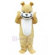 Ferocious Khaki British Bulldog Mascot Costume Animal