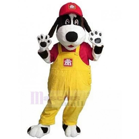 Home Hardware Handy Dog Mascot Costume Animal with Yellow Overall