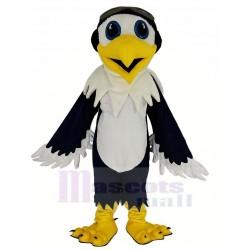 Blue and White Eagle Ace Pilot Bird Mascot Costume Animal