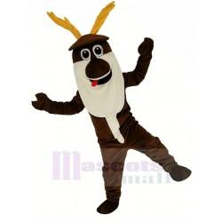 Sven Reindeer Mascot Costume White Beard from Frozen Olaf Friend