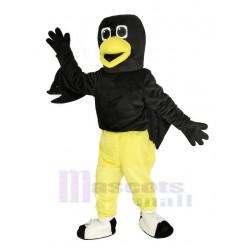 Black Raven Bird Mascot Costume with Yellow Pants Animal
