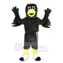 Black Raven Bird Mascot Costume Animal