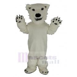 Cool White Polar Bear Mascot Costume Animal