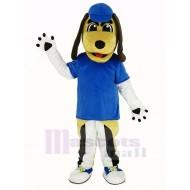 Beagle Dog Mascot Costume with Blue Hat Animal