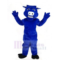 Blue Muscle Bull Ox Mascot Costume Animal