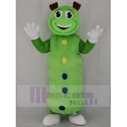 Cute Green Caterpillar Mascot Costume Insect