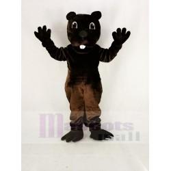 Funny Brown Barney Beaver Mascot Costume Animal