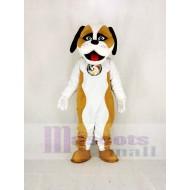 Brown and White Saint Bernard Dog Mascot Costume Animal
