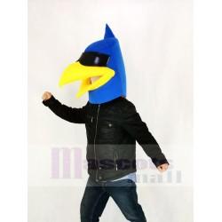 Blue Bird Mascot Costume Head Only