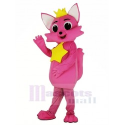 Pink Fox Pinkfong Mascot Costume