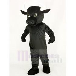 Fierce Black Bull Mascot Costume Animal