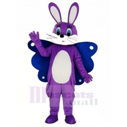 Butterfly Easter Purple Bunny Rabbit Mascot Costume Animal