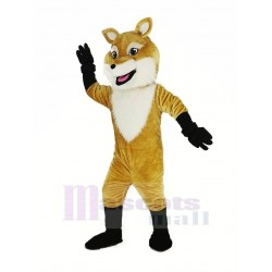 Smiling Brown Fox Mascot Costume Animal