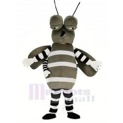 Gray Mosquito Mascot Costume