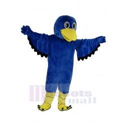 Big Eyes Blue Falcon Mascot Costume Animal