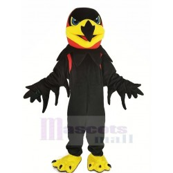 Black Night Hawk Mascot Costume Animal