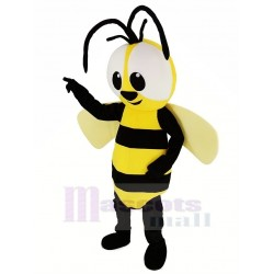 Cute Yellow Bee Mascot Costume Insect