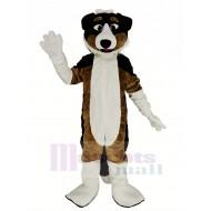 Black and Brown Shepherd Dog Mascot Costume Animal