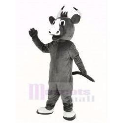 Happy Grey Bull Mascot Costume Animal