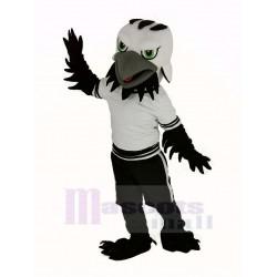 Black and White Eagle Mascot Costume Animal