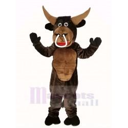 Brown Muscle Bull Mascot Costume Animal
