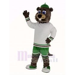 Sport Beaver Mascot Costume with Big Nose Animal