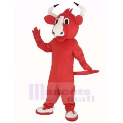 Happy Red Bull Mascot Costume Animal