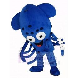 Blue Squid Fish Aquarium Mascot Costume