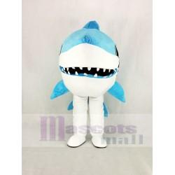 Cute Blue Whale Shark Mascot Costume