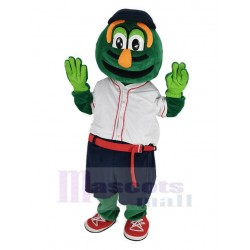 Wally Red Sox Mascot Costume in White T-shirt