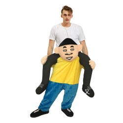 Piggy Back Carry Me Costume Big Head People Ride on Halloween Christmas for Adult