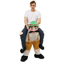 Piggy Back Carry Me Costume Bavarian Beer Guy Ride on Halloween Christmas