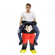 Piggy Back Carry Me Costume Mickey Mouse Ride on Halloween Christmas for Adult