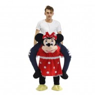 Piggy Back Carry Me Costume Minnie Mouse Ride on Halloween Christmas for Adult