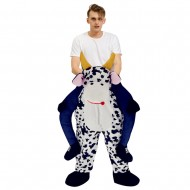 Piggy Back Carry Me Costume Dairy Cattle Ride on Halloween Christmas for Adult