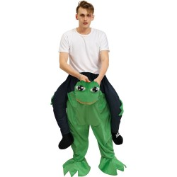 Piggy Back Carry Me Costume Big Eyes Frog Ride on Halloween Christmas for Adult
