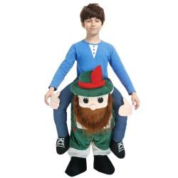 Piggy Back Carry Me Costume Beer Man Scotsman Leprechaun Ride on Halloween Christmas