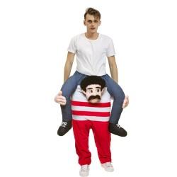 Piggy Back Carry Me Costume Beer Man in Stripes Leprechaun Ride on Halloween Christmas