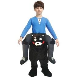 Piggy Back Carry Me Costume Black Bear Kumamon Ride on Halloween Christmas for Kids