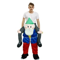 Piggy Back Carry Me Costume Beer Man with White Beard Ride on Halloween Christmas