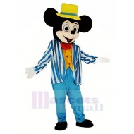 Mickey Mouse in Blue Coat Mascot Costume Cartoon